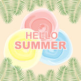 Achtergrond Tropisch de zomerparadijs Stock Illustratie