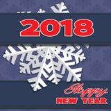 Achtergrond uit de wintersneeuwvlokken die wordt samengesteld Stock Afbeeldingen