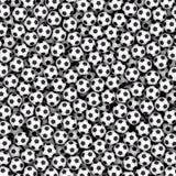 Achtergrond uit vele voetbalballen die wordt samengesteld Royalty-vrije Stock Afbeeldingen
