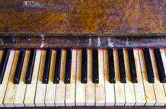 Achtergrond uitstekende retro muzikale instrumentenpiano Royalty-vrije Stock Fotografie