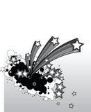 Achtergrond vallend sterren Royalty-vrije Stock Afbeelding