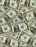 Achtergrond van één dollarrekeningen Royalty-vrije Stock Afbeelding