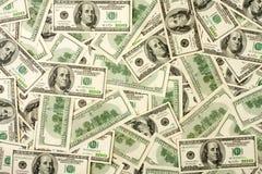 Achtergrond van $100 bankbiljetten Stock Foto