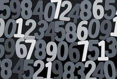 Achtergrond van aantallen van nul tot negen Achtergrond met aantallen Aantallentextuur Stock Afbeeldingen