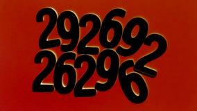 Achtergrond van aantallen van nul tot negen Achtergrond met aantallen Aantallentextuur Stock Fotografie