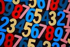 Achtergrond van aantallen van nul tot negen Achtergrond met aantallen Aantallentextuur Royalty-vrije Stock Fotografie