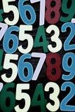 Achtergrond van aantallen van nul tot negen Achtergrond met aantallen Aantallentextuur Royalty-vrije Stock Foto's