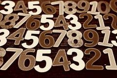 Achtergrond van aantallen van nul tot negen Achtergrond met aantallen Aantallentextuur Royalty-vrije Stock Afbeeldingen