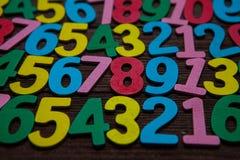 Achtergrond van aantallen van nul tot negen Achtergrond met aantallen Aantallentextuur Stock Afbeelding