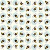 Achtergrond van abstracte bijen Stock Foto