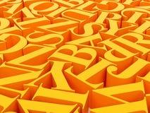 Achtergrond van alfabetten Stock Afbeelding