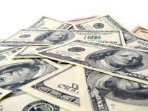 Achtergrond van Amerikaanse dollars Stock Afbeeldingen
