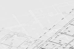 Achtergrond van architecturale tekening Royalty-vrije Stock Afbeeldingen