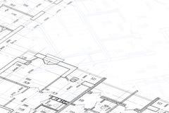 Achtergrond van architecturale tekening Stock Afbeeldingen