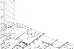 Achtergrond van architecturale tekening Royalty-vrije Stock Fotografie