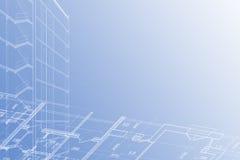 Achtergrond van architecturale tekening Royalty-vrije Stock Afbeelding