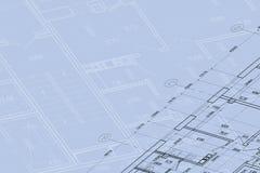 Achtergrond van architecturale tekening Stock Foto's