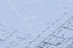 Achtergrond van architecturale tekening Royalty-vrije Stock Foto's