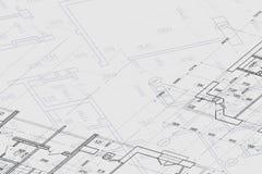 Achtergrond van architecturale tekening Stock Afbeelding