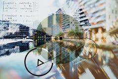 Achtergrond van architectuur Stock Afbeeldingen