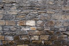 Achtergrond van bakstenen muur Donker bruin patroon Stock Foto