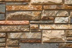 Achtergrond van bakstenen muurtextuur Stock Fotografie