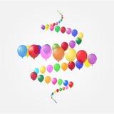 Achtergrond van ballons Royalty-vrije Stock Foto's