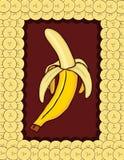 Achtergrond van banaan Stock Afbeeldingen