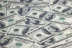 Achtergrond van bankbiljetten Stock Foto's