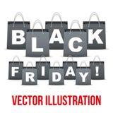 Achtergrond van Black Friday-verkoop met binnen brieven Stock Foto