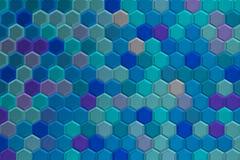 Achtergrond van blauwachtige 3d zeshoeken met brights Stock Foto