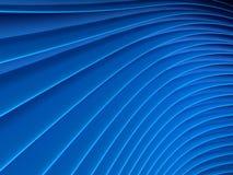 Achtergrond van blauwe abstracte golven render Stock Afbeelding