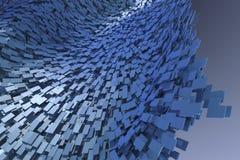 Achtergrond van blauwe blokken Stock Foto's