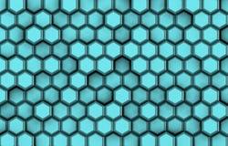 Achtergrond van blauwe 3d vormen met hulp en schaduwen, Stock Afbeelding