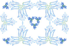 Achtergrond van blauwe klokken Stock Afbeeldingen