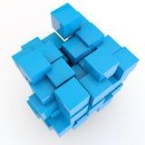 Achtergrond van blauwe kubussen Royalty-vrije Stock Foto's