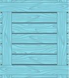 Achtergrond van blauwe raad met houten korrel Stock Afbeelding