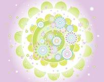 Achtergrond van bloemen, vector   Stock Afbeelding