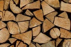 Achtergrond van brandhout voor het verwarmen seizoen Royalty-vrije Stock Afbeelding