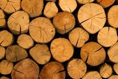 Achtergrond van brandhout voor het verwarmen seizoen Royalty-vrije Stock Foto's
