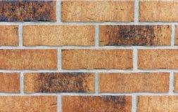 Achtergrond van bruine de bouwbakstenen Een muur van bakstenen stock foto