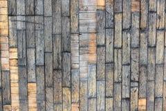 Achtergrond van bruine oude natuurlijke houten planken Donkere oude lege landelijke ruimte met van de het patroontextuur van de b Royalty-vrije Stock Afbeeldingen