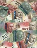 Achtergrond van Canadese rekeningen Royalty-vrije Stock Foto