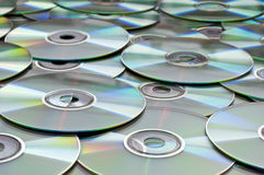 Achtergrond van cds of dvds Stock Afbeelding
