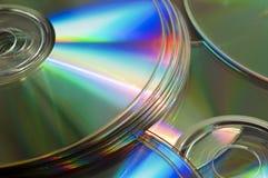 Achtergrond van cds of dvds Royalty-vrije Stock Afbeelding