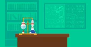 Achtergrond van chemielaboratorium Royalty-vrije Stock Afbeeldingen