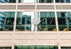 Achtergrond van Chicago Mercantile-de voorgevel van het Uitwisselingscentrum met embleem Royalty-vrije Stock Fotografie
