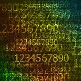 Achtergrond van cijfers Stock Foto's