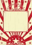 Achtergrond van circus de rode grunge Stock Foto's