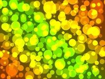 Achtergrond van citroen, gele, oranje ballen met bokeheffect vector illustratie